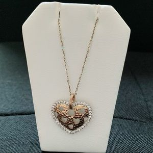 Jewelry - Gold over Sterling silver heart necklace